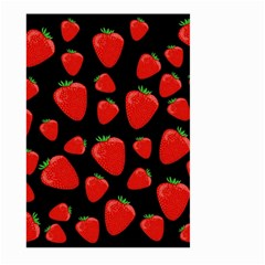 Strawberries Pattern Large Garden Flag (two Sides) by Valentinaart