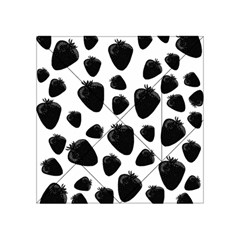 Black Strawberries Pattern Acrylic Tangram Puzzle (4  X 4 ) by Valentinaart