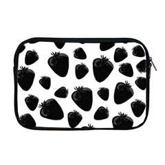 Black Strawberries Pattern Apple Macbook Pro 17  Zipper Case by Valentinaart