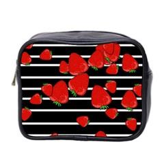 Strawberries  Mini Toiletries Bag 2 Side by Valentinaart
