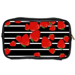 Strawberries  Toiletries Bags by Valentinaart