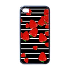 Strawberries  Apple Iphone 4 Case (black) by Valentinaart