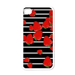 Strawberries  Apple Iphone 4 Case (white) by Valentinaart