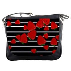Strawberries  Messenger Bags by Valentinaart