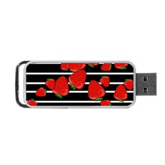 Strawberries  Portable Usb Flash (two Sides) by Valentinaart