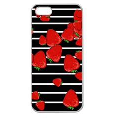 Strawberries  Apple Seamless Iphone 5 Case (clear) by Valentinaart
