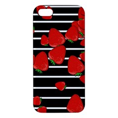 Strawberries  Apple Iphone 5 Premium Hardshell Case by Valentinaart