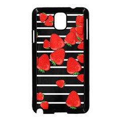 Strawberries  Samsung Galaxy Note 3 Neo Hardshell Case (black) by Valentinaart
