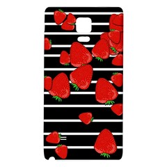 Strawberries  Galaxy Note 4 Back Case by Valentinaart