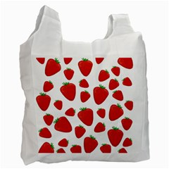 Decorative Strawberries Pattern Recycle Bag (one Side) by Valentinaart