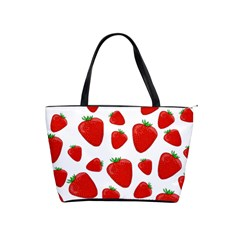 Decorative Strawberries Pattern Shoulder Handbags by Valentinaart