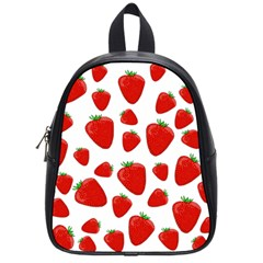 Decorative Strawberries Pattern School Bags (small)  by Valentinaart