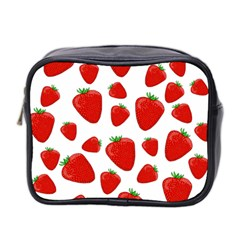 Decorative Strawberries Pattern Mini Toiletries Bag 2 Side by Valentinaart