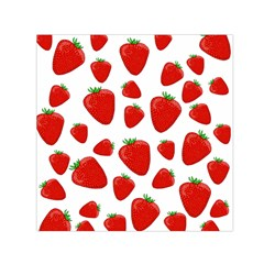 Decorative Strawberries Pattern Small Satin Scarf (square) by Valentinaart