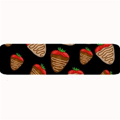 Chocolate Strawberries Pattern Large Bar Mats by Valentinaart