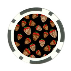 Chocolate strawberries pattern Poker Chip Card Guards (10 pack)  by Valentinaart
