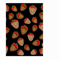 Chocolate Strawberries Pattern Large Garden Flag (two Sides) by Valentinaart