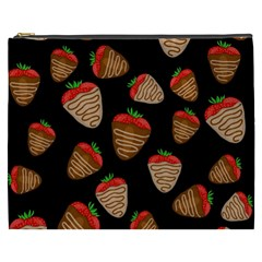 Chocolate Strawberries Pattern Cosmetic Bag (xxxl)  by Valentinaart