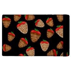 Chocolate Strawberries Pattern Apple Ipad 2 Flip Case by Valentinaart