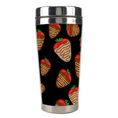 Chocolate Strawberries Pattern Stainless Steel Travel Tumblers by Valentinaart