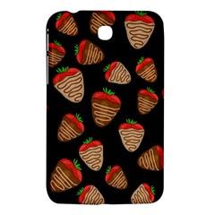 Chocolate Strawberries Pattern Samsung Galaxy Tab 3 (7 ) P3200 Hardshell Case  by Valentinaart