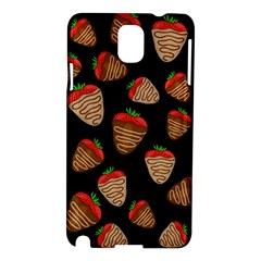 Chocolate Strawberries Pattern Samsung Galaxy Note 3 N9005 Hardshell Case by Valentinaart