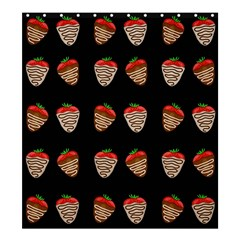 Chocolate Strawberies Shower Curtain 66  X 72  (large)  by Valentinaart