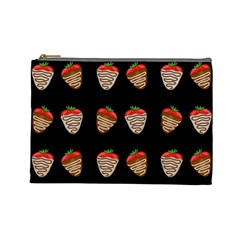 Chocolate Strawberies Cosmetic Bag (large)  by Valentinaart