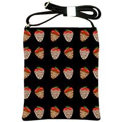 Chocolate Strawberies Shoulder Sling Bags by Valentinaart