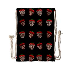 Chocolate Strawberies Drawstring Bag (small)