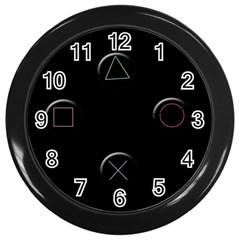 Joystick  Wall Clocks (black) by Valentinaart