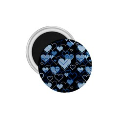 Blue Harts Pattern 1 75  Magnets by Valentinaart
