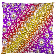 Falling Flowers From Heaven Standard Flano Cushion Case (one Side) by pepitasart
