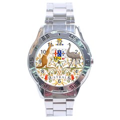 Coat Of Arms Of Australia Stainless Steel Analogue Watch by abbeyz71
