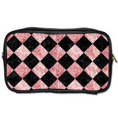 Square2 Black Marble & Red & White Marble Toiletries Bag (two Sides) by trendistuff