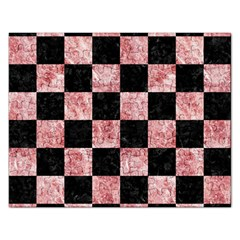 Square1 Black Marble & Red & White Marble Jigsaw Puzzle (rectangular) by trendistuff
