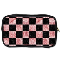 Square1 Black Marble & Red & White Marble Toiletries Bag (two Sides) by trendistuff