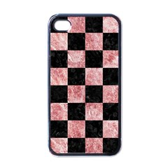 Square1 Black Marble & Red & White Marble Apple Iphone 4 Case (black) by trendistuff