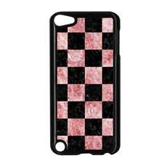 Square1 Black Marble & Red & White Marble Apple Ipod Touch 5 Case (black) by trendistuff