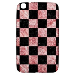 Square1 Black Marble & Red & White Marble Samsung Galaxy Tab 3 (8 ) T3100 Hardshell Case  by trendistuff