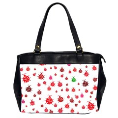 Beetle Animals Red Green Fly Office Handbags (2 Sides)  by Amaryn4rt