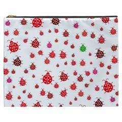 Beetle Animals Red Green Fly Cosmetic Bag (xxxl)  by Amaryn4rt