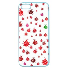 Beetle Animals Red Green Fly Apple Seamless Iphone 5 Case (color) by Amaryn4rt