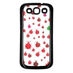 Beetle Animals Red Green Fly Samsung Galaxy S3 Back Case (black)