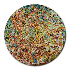 Art Modern Painting Acrylic Canvas Round Mousepads by Amaryn4rt