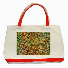 Art Modern Painting Acrylic Canvas Classic Tote Bag (red) by Amaryn4rt