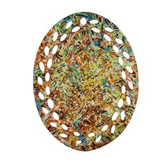 Art Modern Painting Acrylic Canvas Ornament (oval Filigree)  by Amaryn4rt