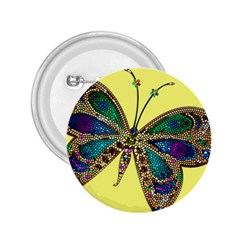 Butterfly Mosaic Yellow Colorful 2 25  Buttons by Amaryn4rt