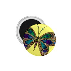 Butterfly Mosaic Yellow Colorful 1 75  Magnets by Amaryn4rt