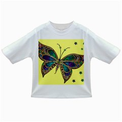 Butterfly Mosaic Yellow Colorful Infant/toddler T Shirts by Amaryn4rt